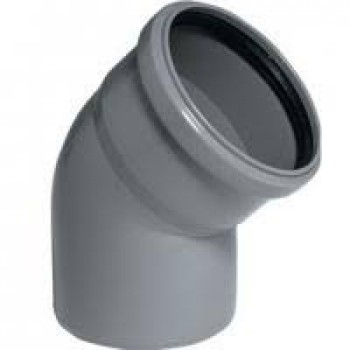 Колено ПВХ внутренней канализации Wavin 110/45