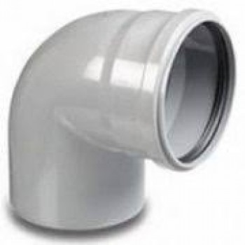 Колено ПВХ внутренней канализации Wavin 110/88