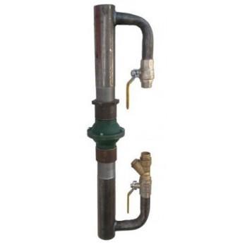 Байпас 40 мм длинный с обратным клапаном