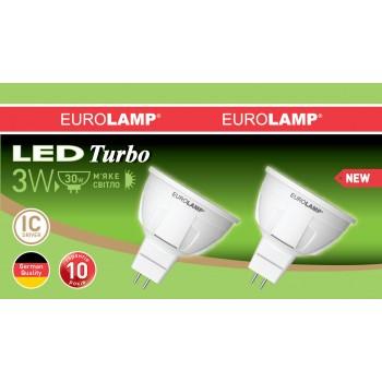 """Промо-набор EUROLAMP LED Лампа MR16 3W GU5.3 3000K акция """"1+1"""""""