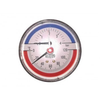 Термоманометр осевой Arthermo 80 0-4 бар, 0-120°C