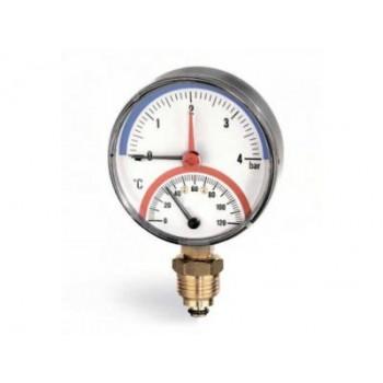 Термоманометр радиальный Arthermo 80 0-4бар 0-120°C