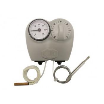 Термостат Arthermo 0-90°C + Tермометр 0-120°C капиляр 1500мм