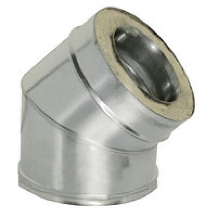 Колено 45 с теплоизоляцией оцинкованное ф130/200 1мм