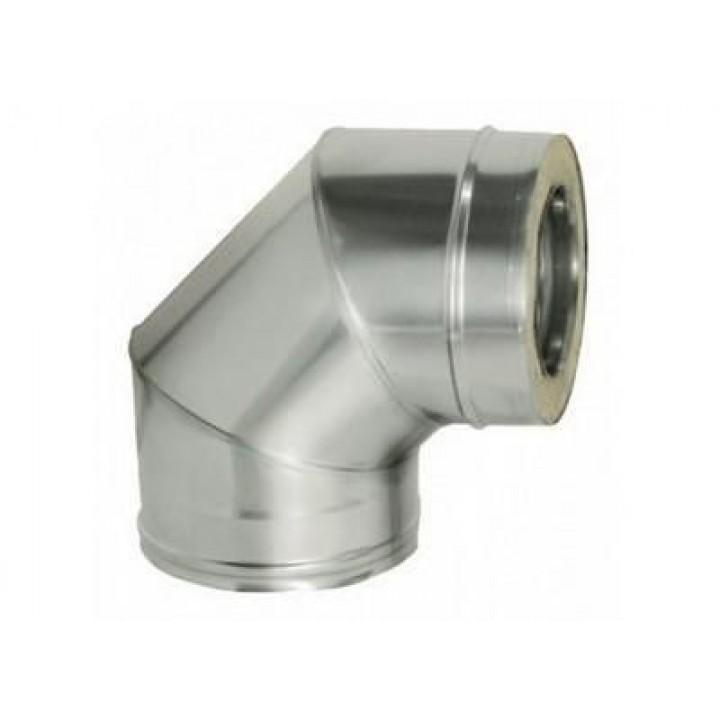 Колено 90 с теплоизоляцией оцинкованное ф110/180 1мм